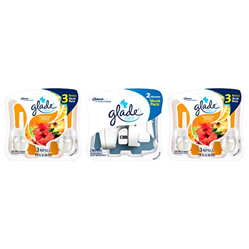 Glade PlugIns Scented Oil Air Freshener, Hawaiian Breeze, 6 Refills and 2 Warmers, 4.02 Fluid Ounce (Glade Plug In Hawaiian Breeze compare prices)