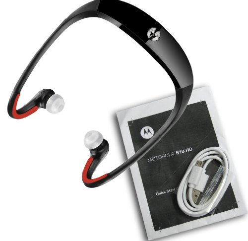 Motorola S10-Hd Sound Wireless Bluetooth Stereo Music Headphones Black / Red (Non Retail Packaging)
