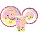 Spearmark 3-Piece Peppa Pig Tea Party Tumbler, Bowl and Plate Set