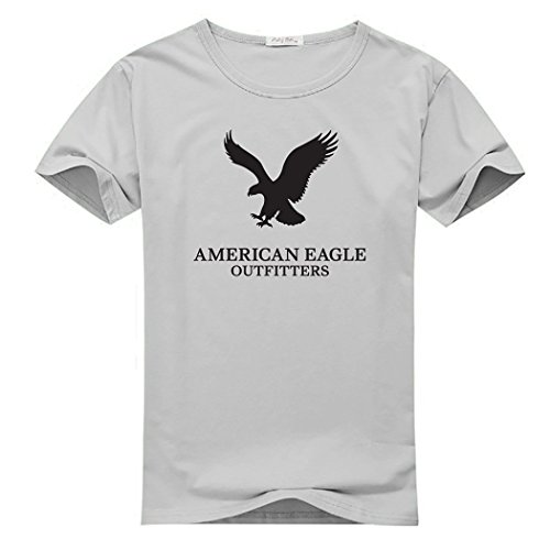 Hpyeed American Eagle Outfitters Logo for Men Printed Short Sleeve Tee T-shirt, 0Gray, XXX-Large