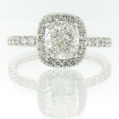 2.65ct Cushion Cut Diamond Engagement Anniversary