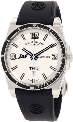 Armand Nicolet Men's 9660A-BC-G9660 J09 Casual Automatic Stainless-Steel Watch