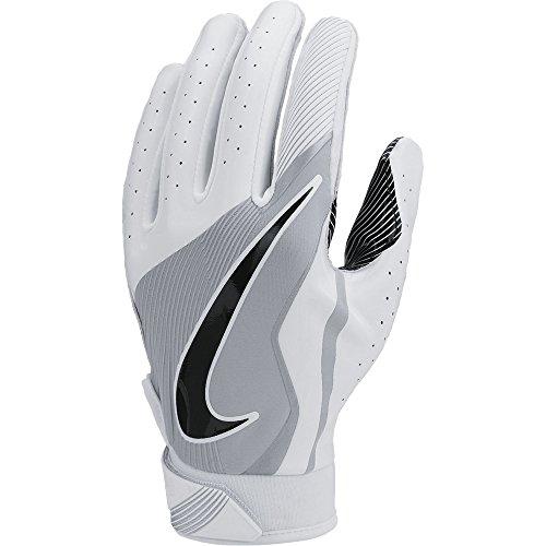Boy's Nike Vapor Jet 4 Football Gloves White/Wolf Grey/Black Size Large (White Nike Football Gloves compare prices)