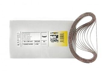 10x Gewebe Schleifbänder 12mm X 610mm Schleifband Bandschleifer Korn 80 DE