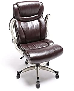 2016 Ergonomic High Back Leather Swivel Chair Vintage Office Furniture Brown