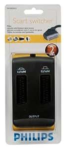 Philips SWV 2053 W/10 Scart Audio-/Video Manueller Umschalter (2-Wege) braun