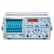 Instek GOS-630FC General Purpose Portable Analog Oscilloscope with 5-Digit LCD Real-Time Frequency Counter, 30MHz Bandwidth, 2 Channels, Timebase Auto-Range Function, ALT Triggering