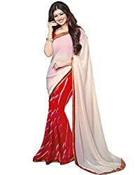 Vastram Online Shop Women's Georgette Saree (34_Multicolor)