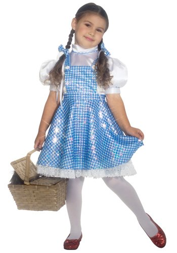 Girls Deluxe Dorothy Costume - Child Medium