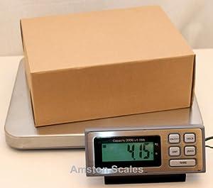 200 LB x 0.05 LB Digital Postal Postage Shipping Scale Stainless Steel Platform USPS UPS FEDEX