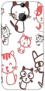 Snoogg Kitties Cute Designer Protective Back Case Cover For HTC M8