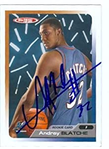 Andray Blatche Autographed Hand Signed Basketball Card (Washington Wizards) 2006...