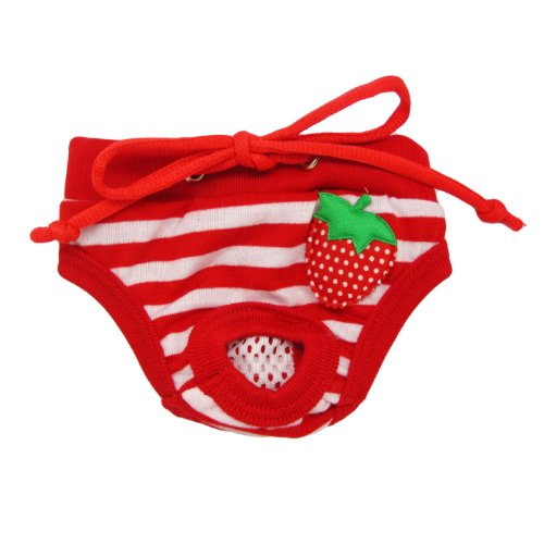 Alfie Pet Apparel - Torri Diaper Dog Sanitary Pantie - Color: Red, Size: S (For Girl Dogs) front-918179