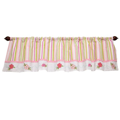 Disney Pooh Sweet Pooh Window Valance, Pink/White (Discontinued by Manufacturer)