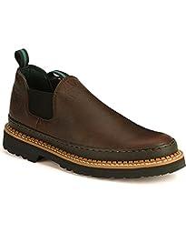 Georgia Giant Men\'s Romeo Slip-On Work Shoe,Brown,9.5 M