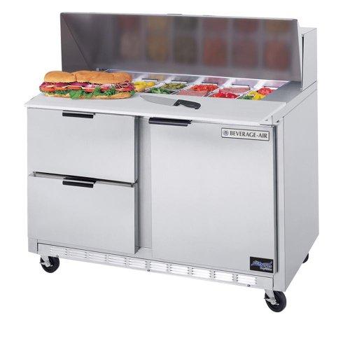 Beverage Air SPED48-18M-4 48†Mega Top Sandwich/Salad Prep Table w/ Drawers †Elite Series