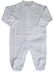 Kissy Kissy Baby Signature Footie-White-3-6 Months
