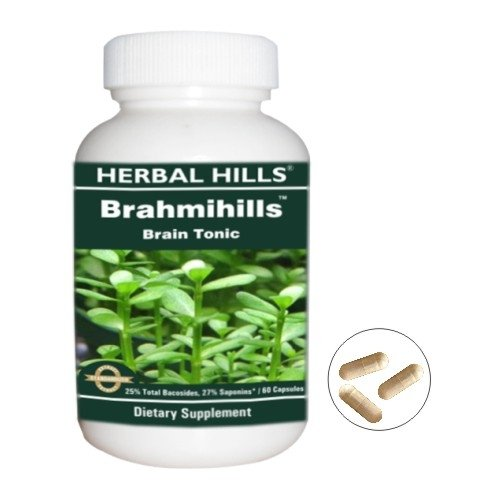 Brahmihills (Bacopa) Ayurvedic Herb - #1 Brain Tonic and Supplement for Healthy Brain.Very Powerful Ingredients.100% Money Back Guarantee