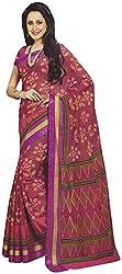 Rajguru Madhubani Women's Cotton Saree (Rajguru Rui 2006_1, Brown Colour)