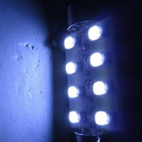 Moon Gazer 4/10 Pieces 42Mm 8Smd White/Red/Blue High Quality Universal Vehicle Auto Truck Suv Car Interior Car Led Styling Lighting Double Tip Festoon Dome Led Light Bulbs Lamp/Reading Lights Bulbs/Car License Plate Lamp/Luggage Compartment Lights Bulbs/S