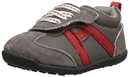 Carter\'s Every Step Oldie-BW Boys Athletic Shoe (Toddler), Dark Grey, 4 M US Toddler