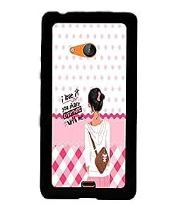 PrintVisa Back Cover for Nokia Lumia 540 (Multi-coloured)
