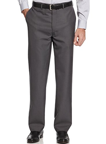 Calvin Klein Ck Slim Fit Dress Pants Dark Grey Flat Front Trousers (33X32)