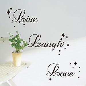 Live laugh love fancy writing alphabet