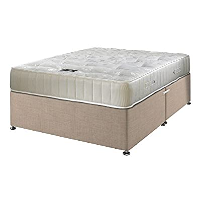 Happy Beds Ortho Royale Orthopaedic Bonnell Spring Mattress with Divan Base, Plain Headboard, Various drawer options