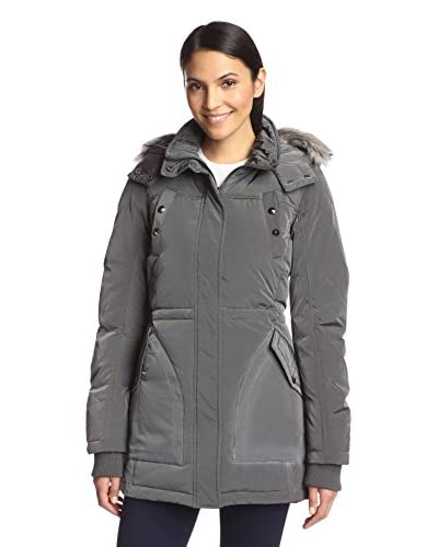 Sam Edelman Women's Gina Puffer Parka with Faux Fur