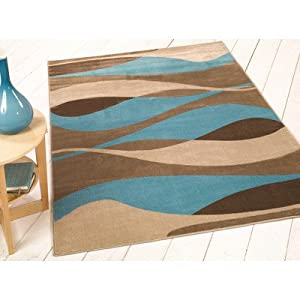 Flair Rugs Sincerity Modern Contour Rug, Blue, 160 x 230 Cm by Flair Rugs