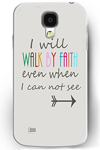 S4 Case, Samsung Galaxy S4 Case Slim Fit Hard Back Cover for Galaxy S4 I Will WALK BY FAITH Even When I Can Not See (Pink 3d Melt Ice Cream Galaxy S4 compare prices)