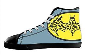 Custom High Top Lace Up Canvas Trendy For Men's Shoes For Batman Design-10M(US)