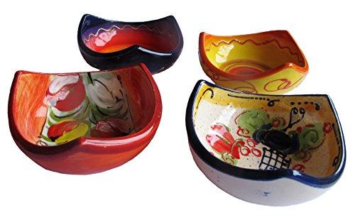 3 Corner Tapa Bowls - Set Of 4 Different Designs