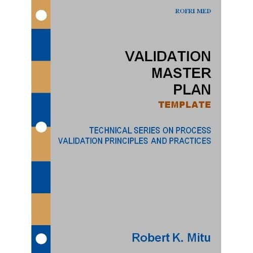 Image Validation Master Plan Template Technical Series On Process Validation Principles And