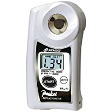 Atago 3850 PAL-RI Digital Hand-Held Pocket Refractive Index Refractometer, Refractive Index 1.3306 to 1.5284nD