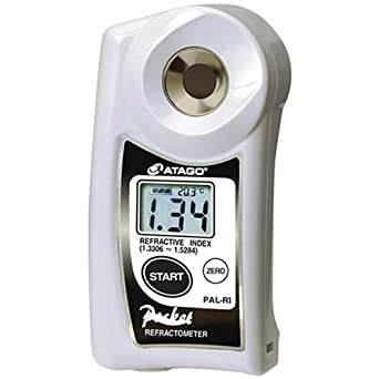 Atago 3850 Digital Hand Held Pocket Refractometer, 1.3306 to 1.5284 Refractive Index Measurement Range