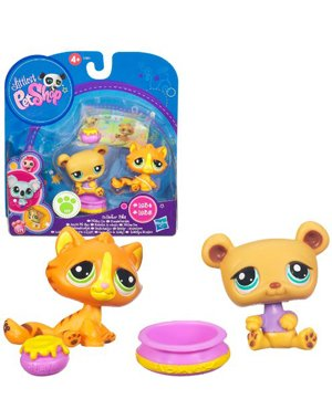 Buy Low Price Hasbro Littlest Pet Shop Collector Pet Pairs Series 1 Figures Baby Tiger Bear (B004MT13M4)