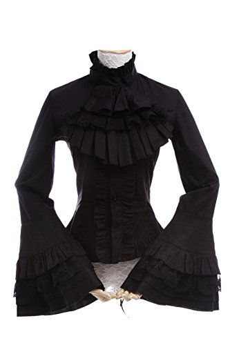 nuoqir-femmes-manches-longues-gothique-chemisier-top-cosplay-costume-noir-taille-francaise-46-gc173a