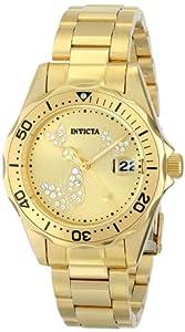 Invicta Women's 12505 Pro Diver Analog Display Japanese Quartz Gold Watch
