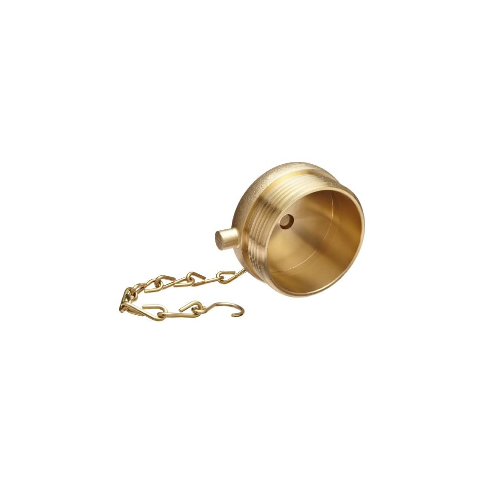 Moon 661 2521 Brass Fire Hose Fitting, Plug, 2 1/2 NH