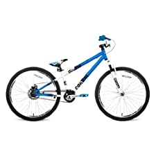 Thruster Control Dirt Jumper Bike (White/Blue, 24-Inch)