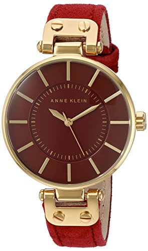 anne-klein-womens-lucy-quartz-watch-with-red-dial-analogue-display-and-red-leather-strap-ak-n2218gpb
