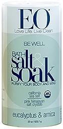 EO Bath Salts, Be Well, Eucalytus and Arnica, 22 oz