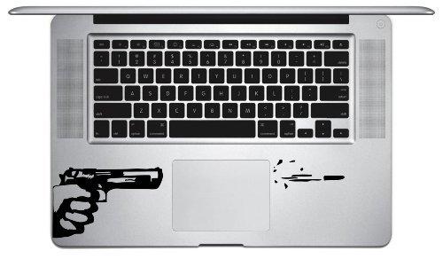 Gun and Bullet Symbol Keypad Iphone Ipad Macbook Decal Skin Sticker Laptop