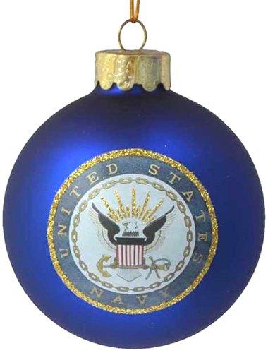 U.S. Navy Glass Ball Ornament, 80mm