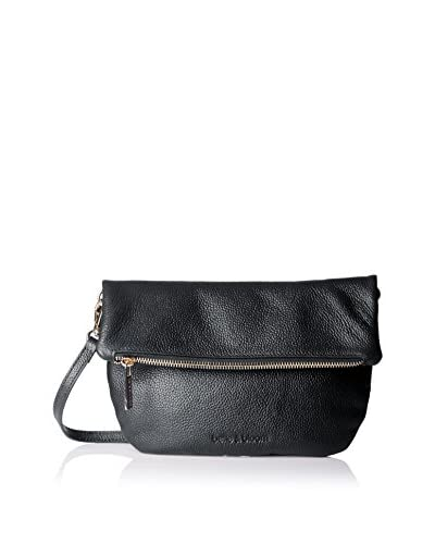 Belle & Bloom Women's Rose Small Leather Crossbody, Black