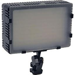 Bescor FP-180 Bi-Color Dimmable On-Camera LED Light, 90 Daylight (5400K) & 90 Tungsten (3200K), 200 Lux at 12\' Brightness