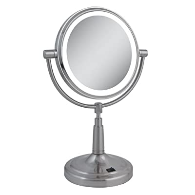Best Cheap Deal for Zadro 10x Mag Next Generation LED Cordless Double Sided Round Vanity Mirror, 9-Inch, Satin Nickel Finish by Zadro - Free 2 Day Shipping Available