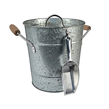 Artland Oasis Ice Bucket with Scoop, Galvanized, Metal
